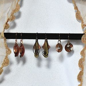 Jewelry - Bundle: 3Metal Earring Sets! Copper & other Metals
